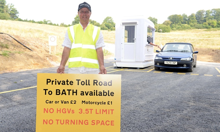 Mike Watts at his new private toll road.